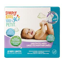 Simply Kids Unscented Wipes - 432pk.