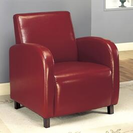 Monarch Specialties Inc. Burgundy Faux Leather Club Chair