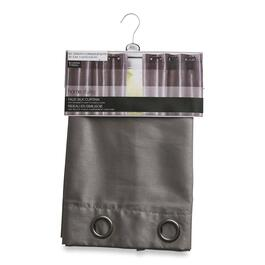 HomeStyles Grey Faux Silk Curtain - 63in.