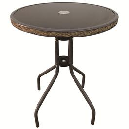 Steel Rattan Round Table - 27in.