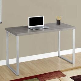 Monarch Specialties Inc. Silver Metal Computer Desk Dark Taupe - 48 in.