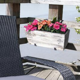 Grapevine Urban Garden White Recycled Wood Wash Deck Box - 2pk.