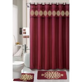 Nova Home Collection Burgundy Non-Slip Bath Set - 18pc.