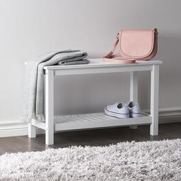Gracie White Shoe Storage Bench