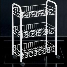 Metaltex Siena 3 Tier Rolling Cart