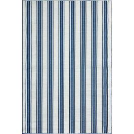 Mad Mats Runner Vertical Stripe Indoor/Outdoor Carpet - Blue/White