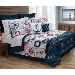 Safdie & Co. Bay Harbour Twin Premium Quilt Set - 4pc.
