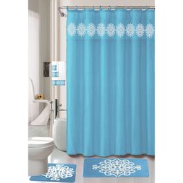 Nova Home Collection Turquoise Non-Slip Bath Set - 18pc.