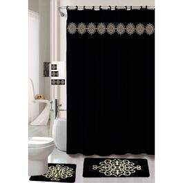 Nova Home Collection Black Non-Slip Bath Set - 18pc.