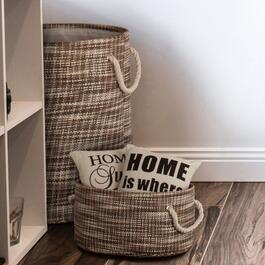 Truu Design Brown Round Storage Baskets - 6pc.