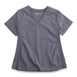 Options Women's Plus Pewter Scrub Top - 2X/3X