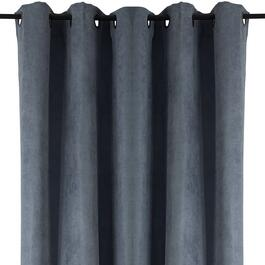 HomeStyles Grey Faux Suede Curtain Panel - 63in.