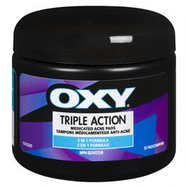 OXY Triple Action Acne Pads - 55pk.