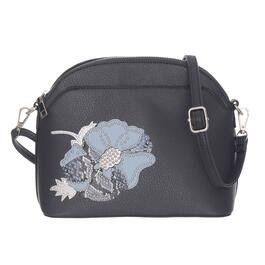 Nicci Navy Crossbody with Floral Patch Bag