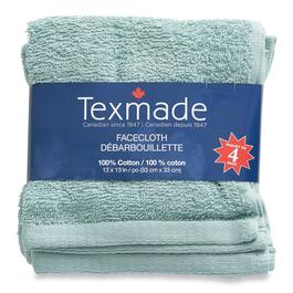 Texmade Aqua Facecloths 4pk. - 13in.