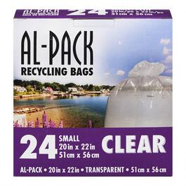 Al-Pack Clear Recycling Bags - 24pk.