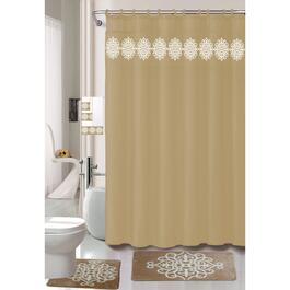 Nova Home Collection Taupe Non-Slip Bath Set - 18pc.