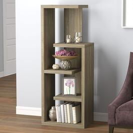 Safdie & Co. Dark Taupe Staggered Bookshelf