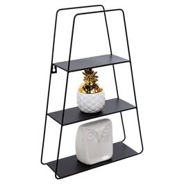 Truu Design Black Decorative Trapezoid Wall Shelf - 18in.