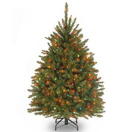 Snowy Dunhill® Fir Slim Hinged Tree with 350 Clear Lights - 4.5ft.