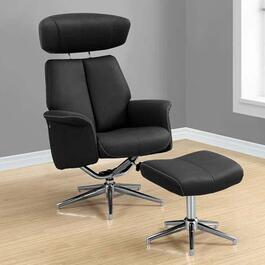 Monarch Specialties Black Swivel Recliner - 2pc.