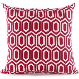 Gouchee Design Red Hex Cushion - 20in.