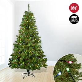 Pine Tree with 300 Multi-Colour LED Lights - 6.5ft.