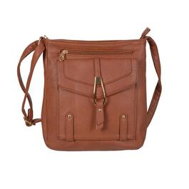 Nicci Crossbody Bag with Front Zipper Pocket with Tassel