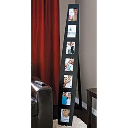 Summit 7-Opening Floor or Wall Collage Frame - Black