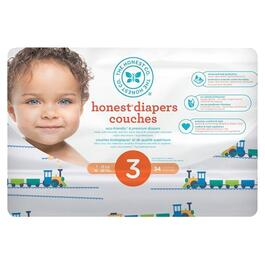 The Honest Company Trains Patterned Diapers Size 3 - 136pk.