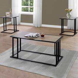 Monarch Specialties Dark Taupe Table Set - 3pc.