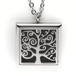 T-Zone Health Square Tree Aromatherapy Locket Necklace