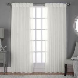 Exclusive Home Belgian Jacquard Sheer Curtain Panel 2pc. - 84in.