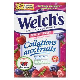 Welch's Berries 'n Cherries Fruit Snacks 32pk. - 704g