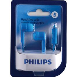 Philips Blue In-Ear Headphones with Microphone