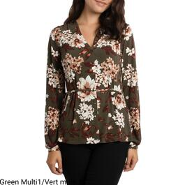 lily morgan Women's Printed Button Front Top - S-XL