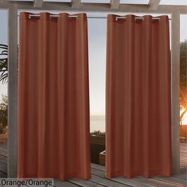 Nicole Miller Canvas Indoor Outdoor Curtains - 96in.