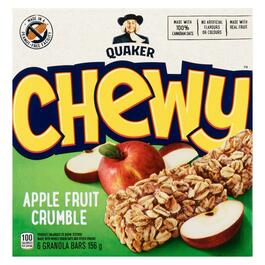 Quaker Chewy Apple Fruit Crumble Granola Bars 6pk. - 156g