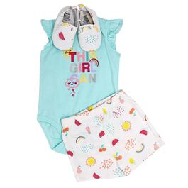 Baby Mode This Girl Can Bodysuit Set 3pc. - 0-9M