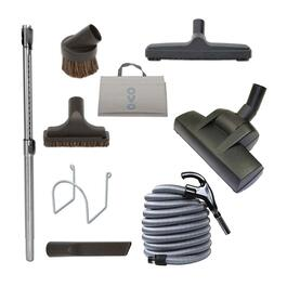 OVO Deluxe Central Vacuum Cleaning tools Set with Air-Driven Carpet Beater