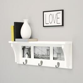 nexxt Riley Picture Collage Wall Mounted Coat Rack - White