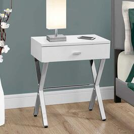 Monarch Specialties Glossy White Accent Table
