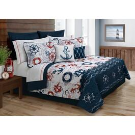 Safdie & Co. Bay Harbour Double/Queen Premium Quilt Set - 5pc.