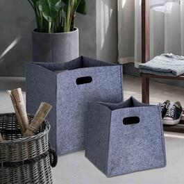 Truu Design Light Grey Felt Storage Basket 3pc. - 14in.
