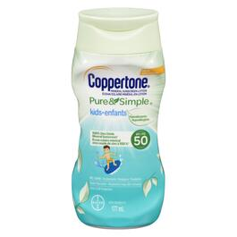 Coppertone Pure & Simple SPF 50  Kids Sunscreen Lotion - 177ml