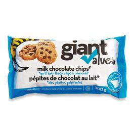 Giant Value Milk Chocolate Chips - 300g