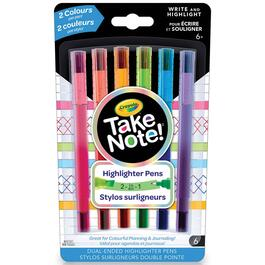 Crayola Take Note 2-in-1 Highlighter Pens - 6pk.