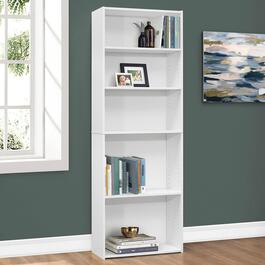 Monarch Specialties White Bookcase - 72in.