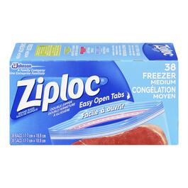 Ziploc Double Zipper Medium Freezer Bags - 38pk