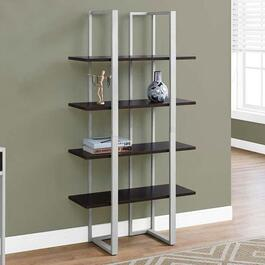 Monarch Specialties Cappuccino Bookcase - 60in.